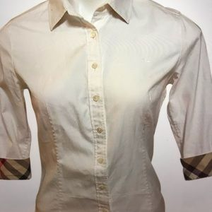 Burberry button down women's blouse Sz small